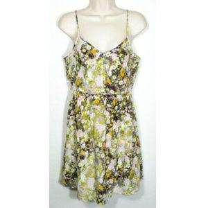 MADEWELL Floral Slip Sun Dress Pockets Silk 2585E1